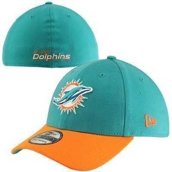 Miami Dolphins Hat New Era Stretch Fit NFL TD Classic 39THIRTY Cap Large/X-Large