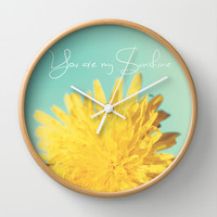 You are my Sunshine Wall Clock by Beth - Paper Angels Photography