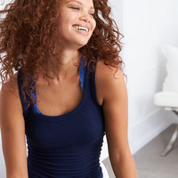 Aerie Real Soft® Ribbed Tank, Navy