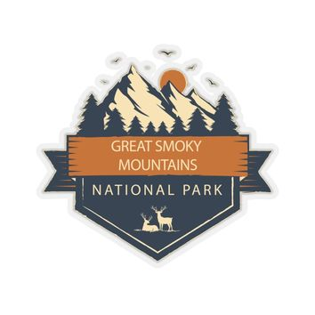 Great Smoky Mountains National Park Sticker, National Park Sticker, National Park Gifts