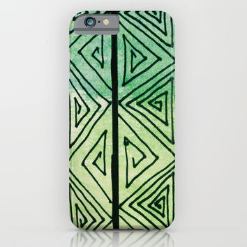 Zentangle Aztect Pattern iPhone & iPod Case by Idle Amusement