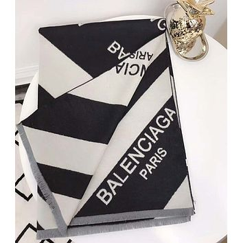 BALENCIAGA Hot Sale Stylish Classic Cashmere Cape Scarf Scarves Shawl Accessories