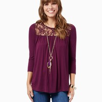 Doria Lace Tee | Fashion Apparel | charming charlie