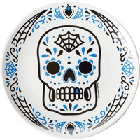 SOURPUSS SUGAR SKULL PLATE BLUE