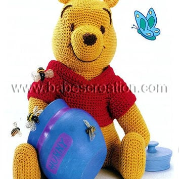 40% SALE Winnie the Pooh Amigurumi Pattern: INSTANT DOWNLOAD