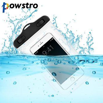 Universal - Powstro IPX8 waterproof mobile phone bag transparent touchable pouch beach Underwater Phone Bag