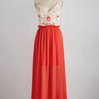 Gown to a Fine Art Dress in Coral