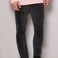 PacSun Stacked Skinny Side Zip Black Stretch Jeans at PacSun.com