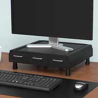 Mind Reader ' Perch' PC, Laptop, IMAC monitor stand and desk organizer, Black | Staples