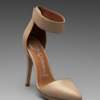 Jeffrey Campbell Solitaire Heel in Beige Leather from REVOLVEclothing.com