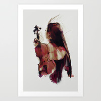 Strings Art Print by Galen Valle