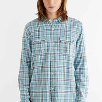 Salt Valley Flannel Button-Down Shirt- Blue