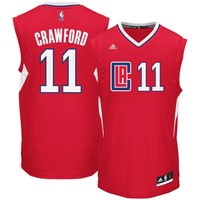 Men's LA Clippers Jamal Crawford adidas Red Road Replica Jersey