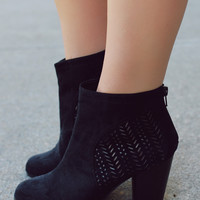 Make the Cut Bootie - Black