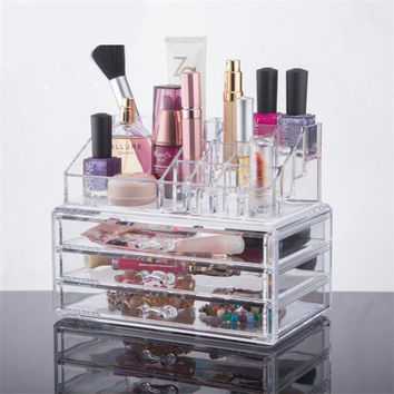 CHOICEFUN Acrylic makeup organizer storage box cosmetic organizador de maquiagem makeup storage drawers