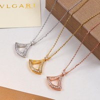 Bvlgari Women Fashion Diamonds Chain Necklace