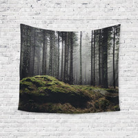 Dark Woods Trees Trendy Boho Wall Art Home Decor Unique Dorm Room Wall Tapestry Artwork