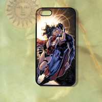 Superman and Wonder Woman Case-iPhone 5, 4s, iphone 4 case, ipod 5, Samsung GS3-Silicone Rubber or Hard Plastic Case, Phone cover