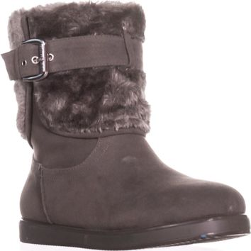 Guess Amburr Mid Calf Lined Boots, Gray Multi, 9 US