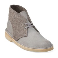 Mens Desert Boot Grey Felt - Clarks Mens Shoes - Lace-ups and Slip-ons - Clarks - Clarks® Shoes