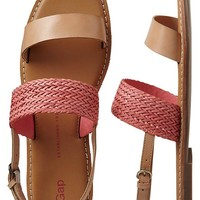 Gap Women Two Band Woven Sandals