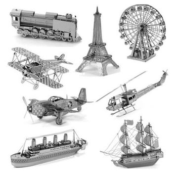 3D jigsaw puzzles for kids 2015 Star wars 3D Nano metal DIY scale Model Building architecture educational toys for toddlers