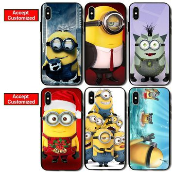 New Arrival Minion Shell Cover Case for iPhone 5 5S SE 6 6S 7 8 Plus X XS Max XR Samsung Galaxy S6 S7 S8 S9 Edge Plus Note 8 9
