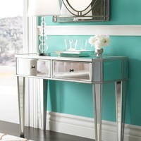 "Powell Furniture Mirrored Console with ""Silver"" Wood Item#: 233-225"
