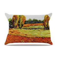 "Jeff Ferst ""Summer Breeze"" Orange Foliage Pillow Sham"