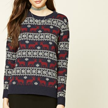 Elk Fair Isle Sweater