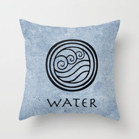Avatar Last Airbender - Water Throw Pillow by briandublin | Society6