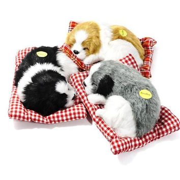 Stuffed Toys Lovely Simulation Animal Doll Plush Sleeping Cats Toy with Sound for Kids Toy Birthday Gift Doll Decorations Toys