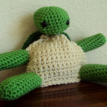 Crocheted Turtle Pouch - Dice Bag, Coin Purse, Amigurumi