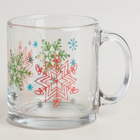 Glass Snowflake Mugs, Set of 2 - World Market