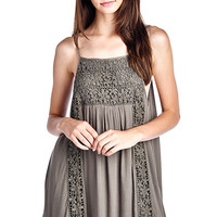 Olive Crochet Sundress