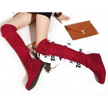 WOMEN'S BOOTS AUTUMN FASHION FLAT BOTTOM BOOTS OVER THE KNEE HIGH SUEDE LONG TALL DESIGNER BOOTS