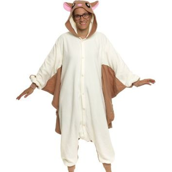 SILVER LILLY Unisex Adult Plush Animal Cosplay Costume Pajamas (Flying Squirrel) - Walmart.com