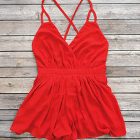 Summer Nights Romper (Red)