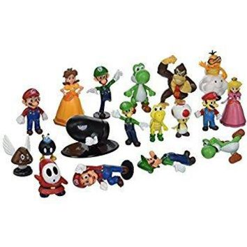 Toy Innovation Super Mario Brothers Action Figures Set (18 Piece)