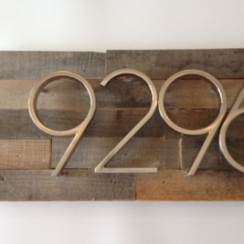 Rustic Address Plaque made from Reclaimed Wood - custom, personalized, house numbers, address sign, cabin, cottage, housewarming gift