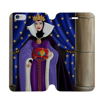 DISNEY VILLAINS WICKED WILES Wallet Case for iPhone 4/4S 5/5S/SE 5C 6/6S Plus Samsung Galaxy S4 S5 S6 Edge Note 3 4 5