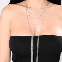 I Want To Fall In To You Necklace - Silver