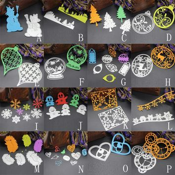 Merry Christmas Metal Cutting Dies Stencils Scrapbooking Embossing DIY Crafts Template Craft DIY Carbon Steel Decor !.