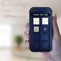 Blue Police Call Box TARDIS Rubber iPhone Case iPhone 4, iPhone 4 case, iPhone 4S case, iPhone cover, iPhone Doctor Who