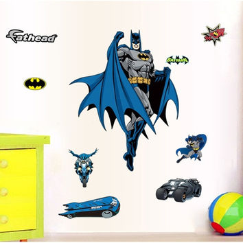 Home Decor Environmental Wallpaper Wall Sticker Bedroom Sticker Batman Hero (Color: Multicolor) = 1927807236