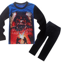 New 2017 Boys Clothing Sets Star Wars Long Sleeve T Shirts For Boys Cartoon Kids Pajamas Set Spring Baby Sleepwear Suit 4-12Y