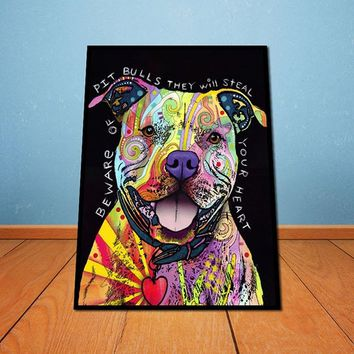 Dreamfactory Creative Dogs Oil Painting Watercolor Painting HD Photo Print Canvas