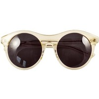 Something Else Radient Citrine Round Sunglasses