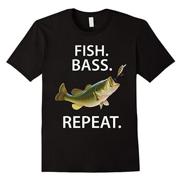 Bass Fishing Shirts Fish Bass Repeat