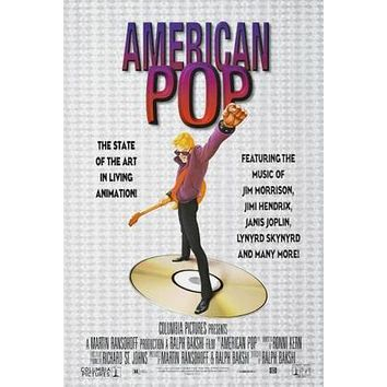 American Pop Movie poster Metal Sign Wall Art 8in x 12in